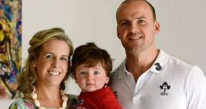 Patricia and Daniel Clifford with their son Harry, whose twin sister Beth Hope died after just five days, having tested positive for Patau syndrome.