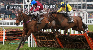 Martello Tower (right) battling to victory past Milsean.