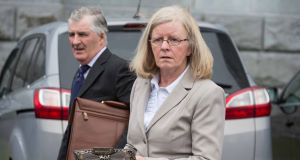 Martin McLaughlin, of Ballymaconna, Barefield, Co Clare, with his wife Ann. He was charged with harassing his neighbours, Raymond and Patrizia Crowley.