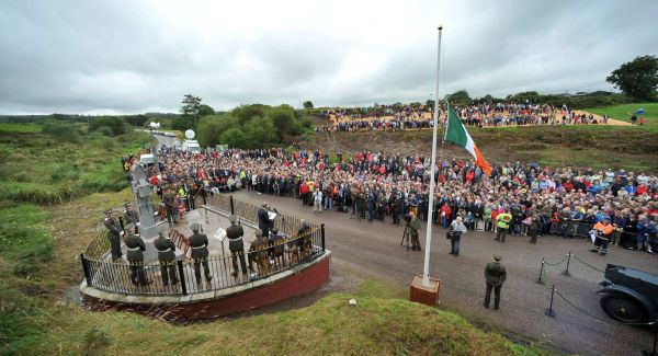 The 2012 commemoration cermony to mark the 90th anniversary of the death of Michael Collins at Beal na MBlath, West Cork