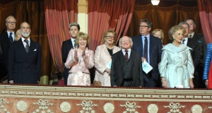 President Michael D Higgins at the Royal Albert Hall last night