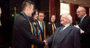 President Michael D Higgins during the recent State visit to China.