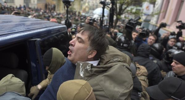 Saakashvili calls for protest camp in Ukraine's capital