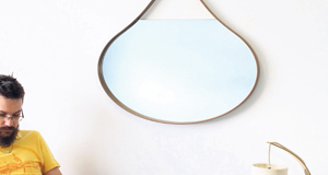 Streamlined design with a touch of quirkiness will provide a mirror with practicality and visual interest(Loopie mirrors approx, €250 from M-Dex-Design)