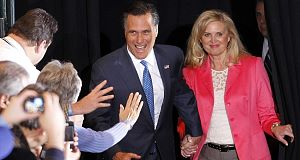 Mitt Romney and wife Ann
