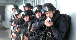File photo of a 2003 training session with a naval boarding team.