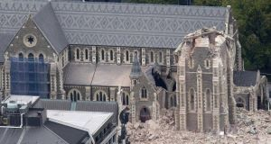 The quake-damaged Christchurch Cathedral