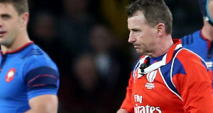 Nigel Owens, in action yesterday at the England v France match. Picture: PA