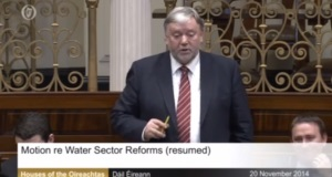 Deputy Noel Coonan speaking in the Dáil earlier today