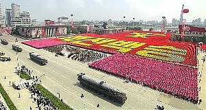 A 2013 military parade in North Korea.