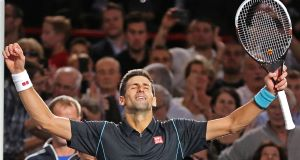 Novak Djokovic sees off Milos Raonic to stay on track for Golden Masters