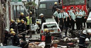 The scene of the Omagh bombing