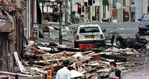 The aftermath of the Omagh bombing in August 1998