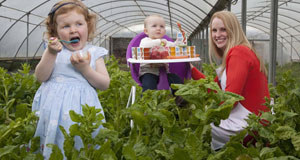More please: Niamh O'Dwyer of Organic Little Ones with Lucy Clinton and Sophia Murnane at the launch of Organic Little Ones.