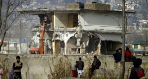 Bin Laden compound demolished