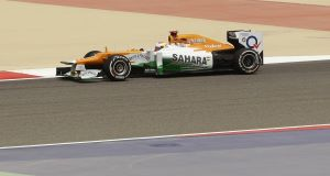 Di Resta in-car during Friday practice in Bahrain last week. Picture: AP