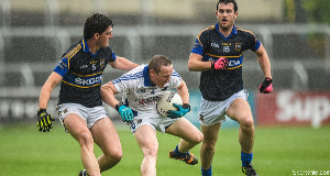 Peter O'Leary (middle) in action against Tipperary earlier this year.