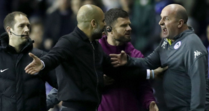Pep Guardiola loses cool with opposition manager as Man City exit FA Cup