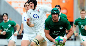 Rhys Ruddock playing for the Ireland U20s.