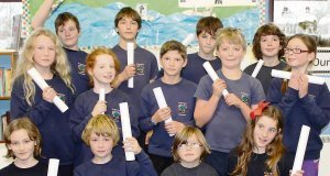 The Saint Matthias' Church of Ireland National School pupils who took part in the Bebras challenge.
