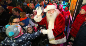 Santa Claus gets Waterford into the festive spirit as he arrives to open Winterval.