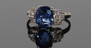 A sapphire ring at O'Reilly's sale in Francis St, Dublin next Wednesday. It is estimated at €8,000-€9,000.