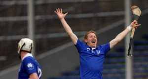 Thurles Sarsfields' Ger O'Grady celebrates a score in the final moments of the match. INPHO