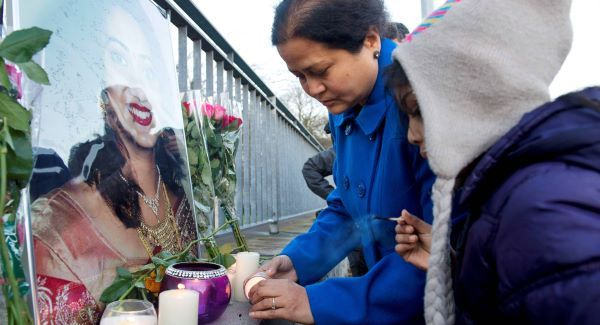 Friends of Savita Halappanavar and members of the Iindian community in Galway gather at Galway University Hospital for their own vigil in her memory. Picture: Andrew Downes