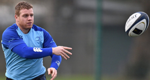 BALL SKILLS: Seán Cronin tries his hand at ball  juggling at Leinster training in UCD.