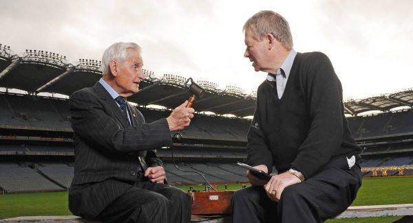 Seán Óg Ó Ceallacháin (left) and Micheál Ó Muircheartaigh pictured in 2009.Photo: SPORTSFILE