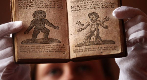 "Lyon & Turnbull book specialist Cathy Marsden looks at a 1760 manual for sex and pregnancy called ""Aristotle's Compleat Masterpiece""Picture: PA"