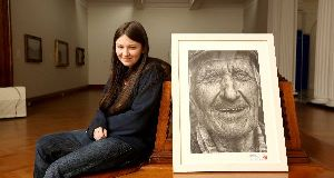 Shania McDonagh: Her striking pencil portrait of Connemara fisherman  Coleman Coyle won the top prize at the Texaco Children's Art Competition.