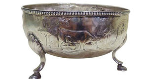 An 18th century Irish silver sugar bowl at Hegarty's in Bandon on July 20 (€800-€1,200).