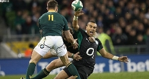 Simon Zebo in action against South Africa