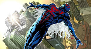 A sneak peek of Will Sliney's work on the upcoming Spider-Man 2099