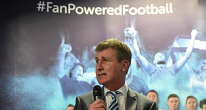 Dundalk FC manager Stephen Kenny at the launch of the SSE Airtricity League at the Aviva Stadium. Picture: Pat Murphy