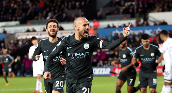 Manchester City break all-time Premier League record against Swansea