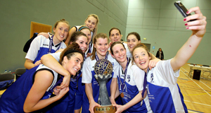Team Montenotte Hotel celebrate their play-off victory over Brunell at NUI Galway. Picture: Hany Marzouk