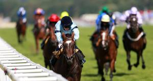 Telescope ridden by Ryan Moore on their way to victory in the Hardwicke Stakes. Picture: PA