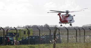 Emergency services respond to the accident today. Picture: Press 22
