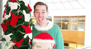 Ryan Tubridy in his Christmas jumper.