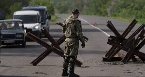 File photo of a checkpoint in Ukraine. Picture: AP
