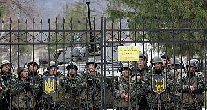 Ukraine soldiers in Crimea