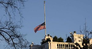 Flag flying half-staff at the White House last Friday