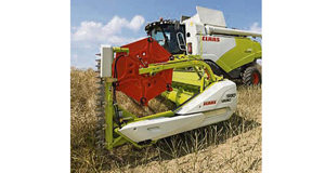 Special mention winners in the Sima Innovation awards, the Vario cutterbar, and top left, the VMP attachment which goes on a combine harvester, and harvests and packages chaff.