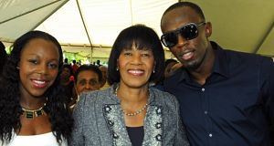 Veronica Campbell, Portia Simpson Miller and Usain Bolt