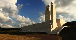 The war memorial at Vimy, France
