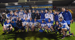 SILVER LINING: The Waterford squad show off the McGrath Cup after beating UCC on Saturday. Picture: Matt Browne.