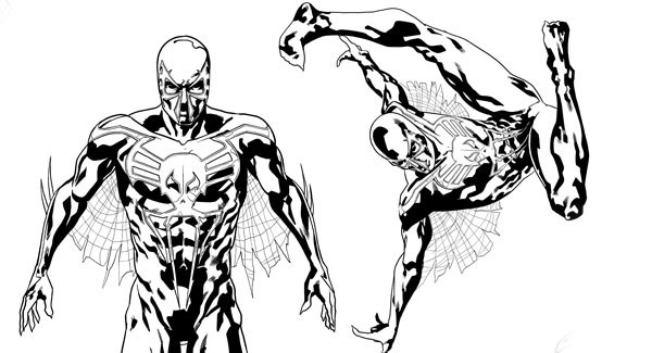 Spider Man 2099 Drawings Sketch Coloring Page