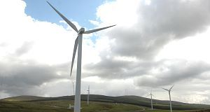 A file photo fo a wind farm.